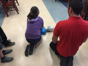 Water Patrol Staff teaching CPR to grade school students