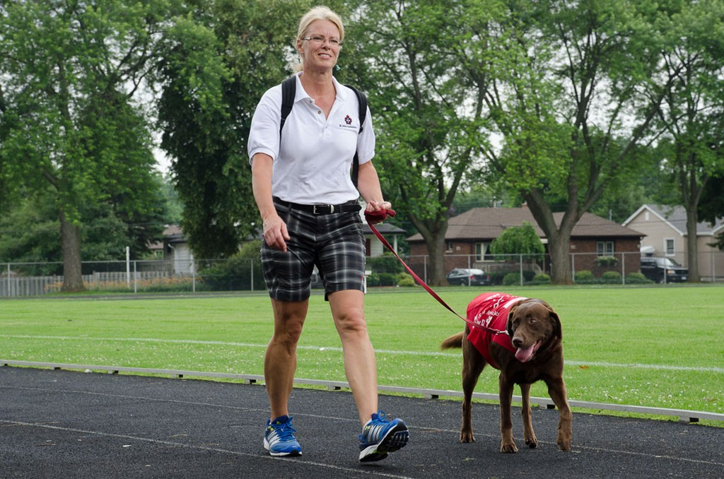 Therapy Dog Zoe with handler Sylvia